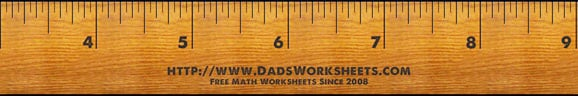 Ruler for Inch Worksheets