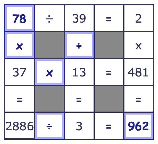 Number Grid Puzzles – Math Puzzles Worksheet