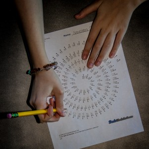 Spiral Multiplication Math Fact Worksheet