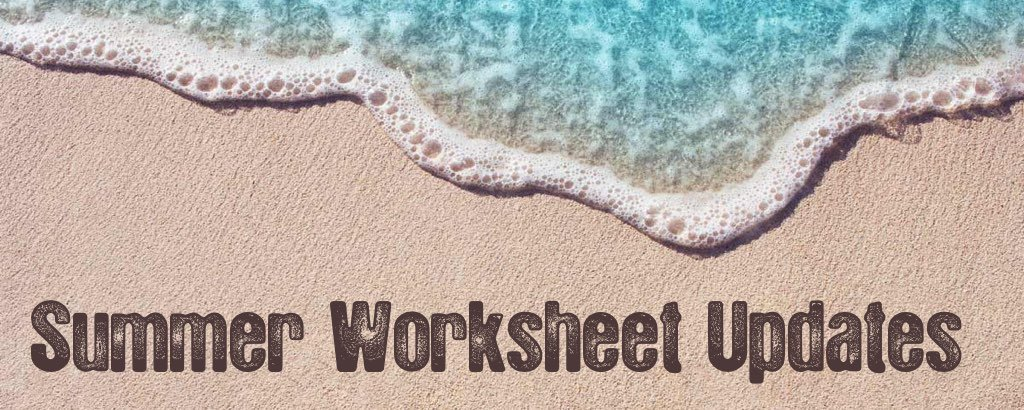Summer Math Worksheet Updates