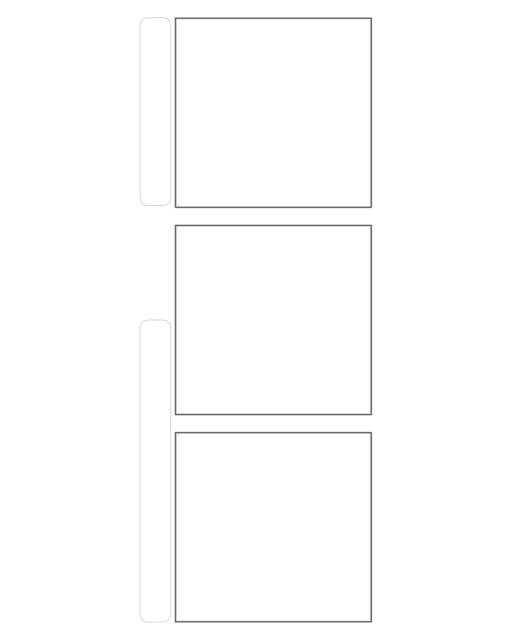 Comic strip template printables in PDF format for manga, newspaper or other styles. Panel 3 panel, 4 panel, 5 panel and more layouts in various styles, including with speech bubbles. 3 Panel Single Large Title