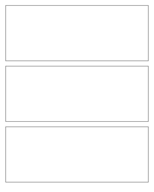 Comic strip template printables in PDF format for manga, newspaper or other styles. Panel 3 panel, 4 panel, 5 panel and more layouts in various styles, including with speech bubbles. 3 Panel Wide