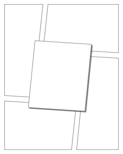 Comic strip template printables in PDF format for manga, newspaper or other styles. Panel 3 panel, 4 panel, 5 panel and more layouts in various styles, including with speech bubbles. 3d Effects Panels 5 Panel V2