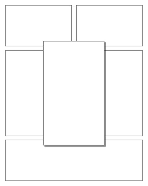 Comic strip template printables in PDF format for manga, newspaper or other styles. Panel 3 panel, 4 panel, 5 panel and more layouts in various styles, including with speech bubbles. 3d Effects Panels 6 Panel