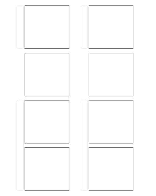 Comic strip template printables in PDF format for manga, newspaper or other styles. Panel 3 panel, 4 panel, 5 panel and more layouts in various styles, including with speech bubbles. 4 Panel Horizontal 2 Up