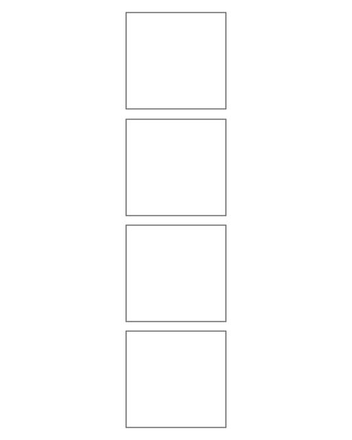 Comic strip template printables in PDF format for manga, newspaper or other styles. Panel 3 panel, 4 panel, 5 panel and more layouts in various styles, including with speech bubbles. 4 Panel Horizontal