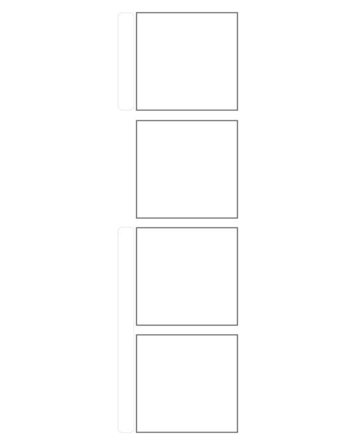 Comic strip template printables in PDF format for manga, newspaper or other styles. Panel 3 panel, 4 panel, 5 panel and more layouts in various styles, including with speech bubbles. 4 Panel Horizontal With Title