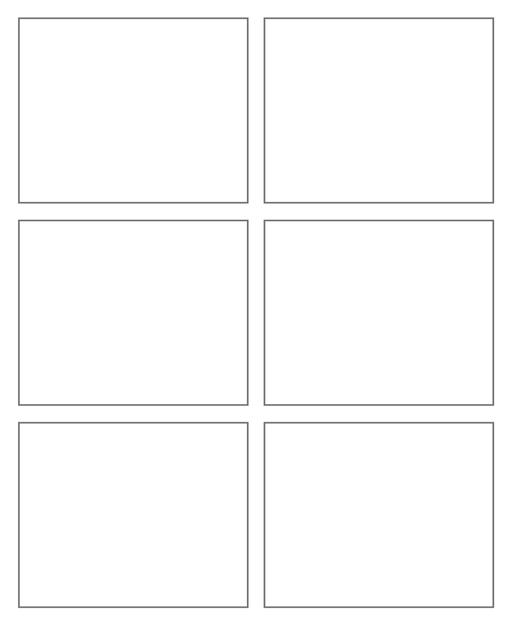 Comic strip template printables in PDF format for manga, newspaper or other styles. Panel 3 panel, 4 panel, 5 panel and more layouts in various styles, including with speech bubbles. 6 Panel 6 Panel