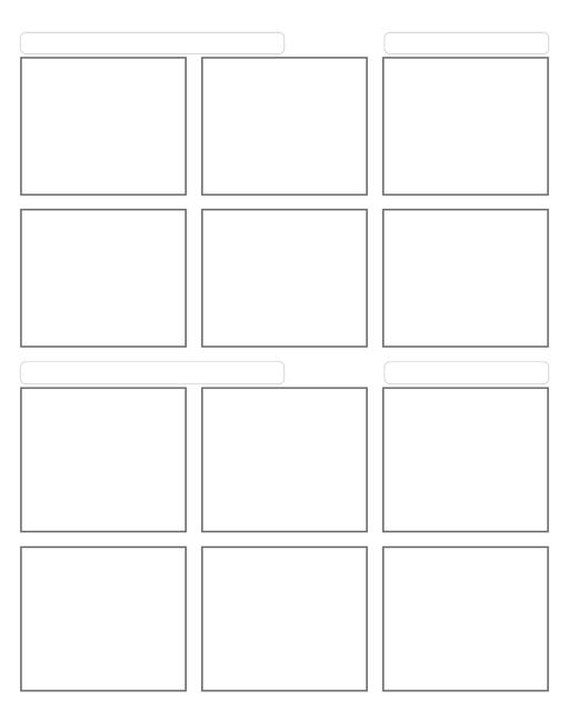 Comic strip template printables in PDF format for manga, newspaper or other styles. Panel 3 panel, 4 panel, 5 panel and more layouts in various styles, including with speech bubbles. 6 Panel 6 Panel With Title