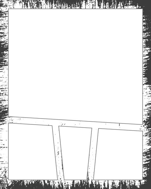 Comic strip template printables in PDF format for manga, newspaper or other styles. Panel 3 panel, 4 panel, 5 panel and more layouts in various styles, including with speech bubbles. Background Dirty 4 Panel