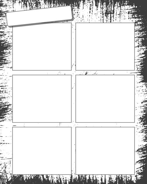 Comic strip template printables in PDF format for manga, newspaper or other styles. Panel 3 panel, 4 panel, 5 panel and more layouts in various styles, including with speech bubbles. Background Dirty 6 Panel V2