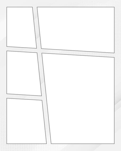 Comic strip template printables in PDF format for manga, newspaper or other styles. Panel 3 panel, 4 panel, 5 panel and more layouts in various styles, including with speech bubbles. Background Dots 5 Panel V3