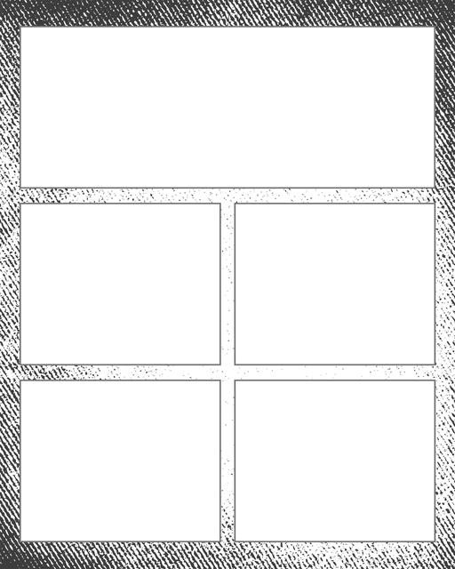 Comic strip template printables in PDF format for manga, newspaper or other styles. Panel 3 panel, 4 panel, 5 panel and more layouts in various styles, including with speech bubbles. Background Grunge 5 Panel