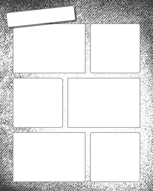Comic strip template printables in PDF format for manga, newspaper or other styles. Panel 3 panel, 4 panel, 5 panel and more layouts in various styles, including with speech bubbles. Background Grunge 6 Panel