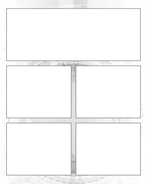 Comic strip template printables in PDF format for manga, newspaper or other styles. Panel 3 panel, 4 panel, 5 panel and more layouts in various styles, including with speech bubbles. Background Scifi 5 Panel