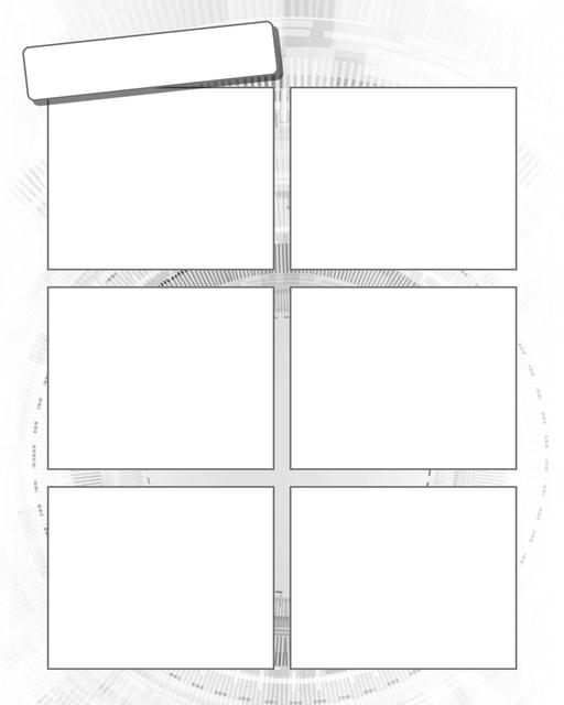 Comic strip template printables in PDF format for manga, newspaper or other styles. Panel 3 panel, 4 panel, 5 panel and more layouts in various styles, including with speech bubbles. Background Scifi 6 Panel V2
