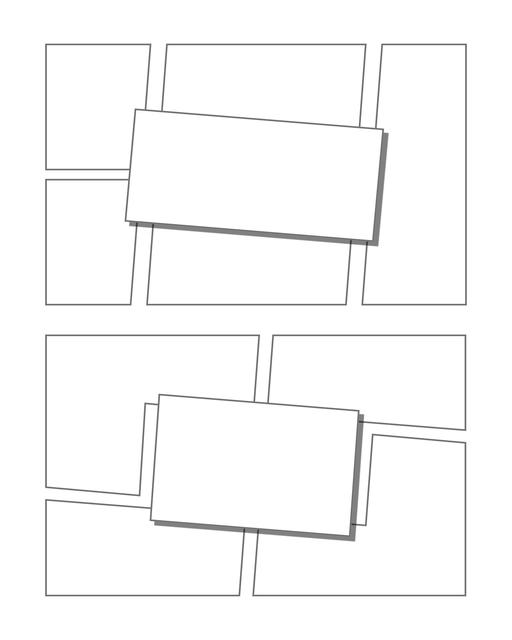 Comic strip template printables in PDF format for manga, newspaper or other styles. Panel 3 panel, 4 panel, 5 panel and more layouts in various styles, including with speech bubbles. Manga Panels 3d Effects 12