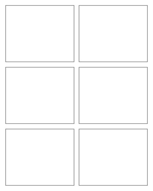 Comic strip template printables in PDF format for manga, newspaper or other styles. Panel 3 panel, 4 panel, 5 panel and more layouts in various styles, including with speech bubbles. Rectangle Panels 6 Panel V4