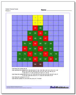 Hidden Pictures Puzzle #Hundreds #Chart