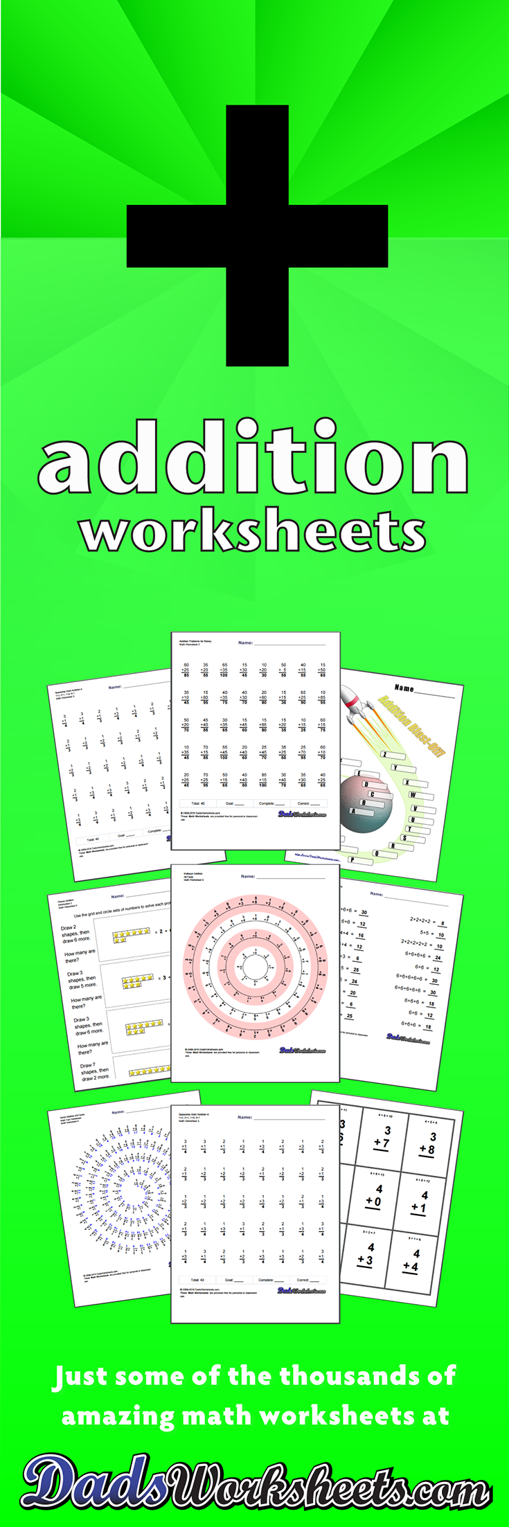worksheet Dads Math Worksheets 396 addition worksheets for you to print right now worksheets