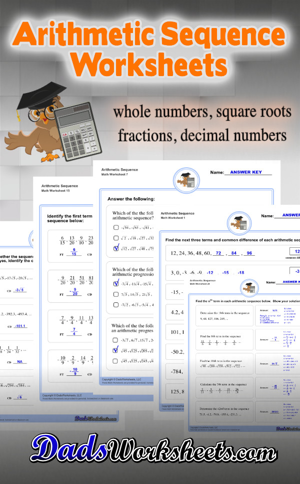 Arithmetic Sequences Worksheets