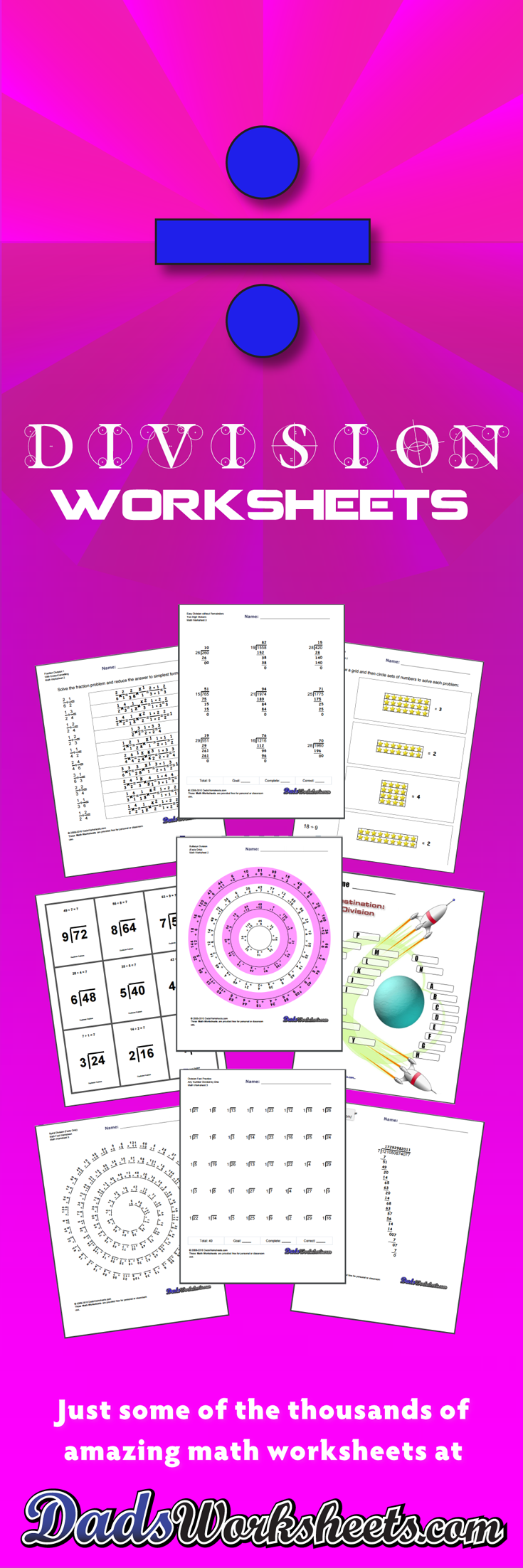 644 division worksheets for you to print right now