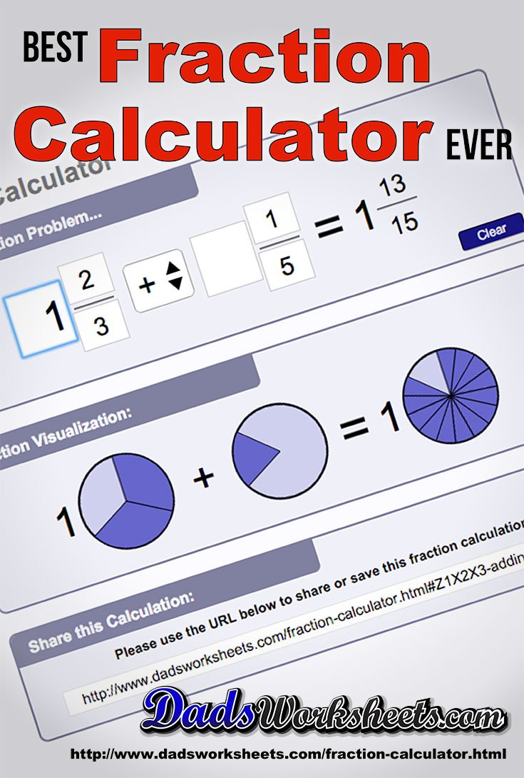 Visual Fraction Calculator