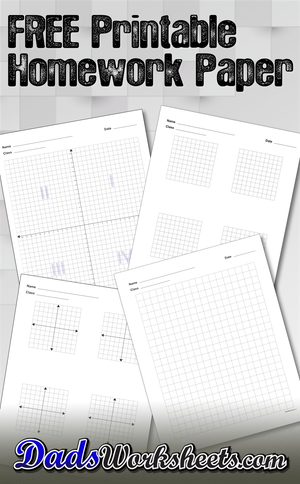 Printable Graph Paper and Homework Paper