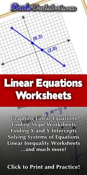 Linear Equation Worksheets