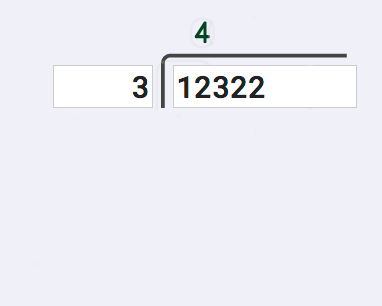 Long Division 12322 divided by 3