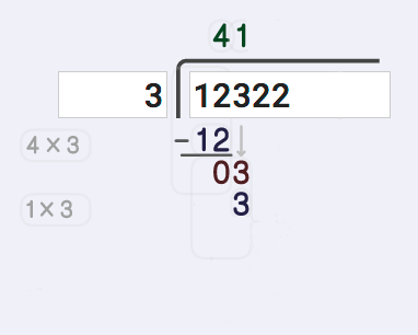 Long Division Calculator 3 divided by 3