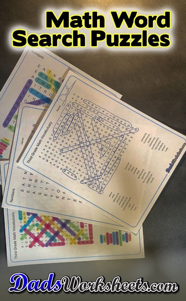 Math Word Search Puzzles