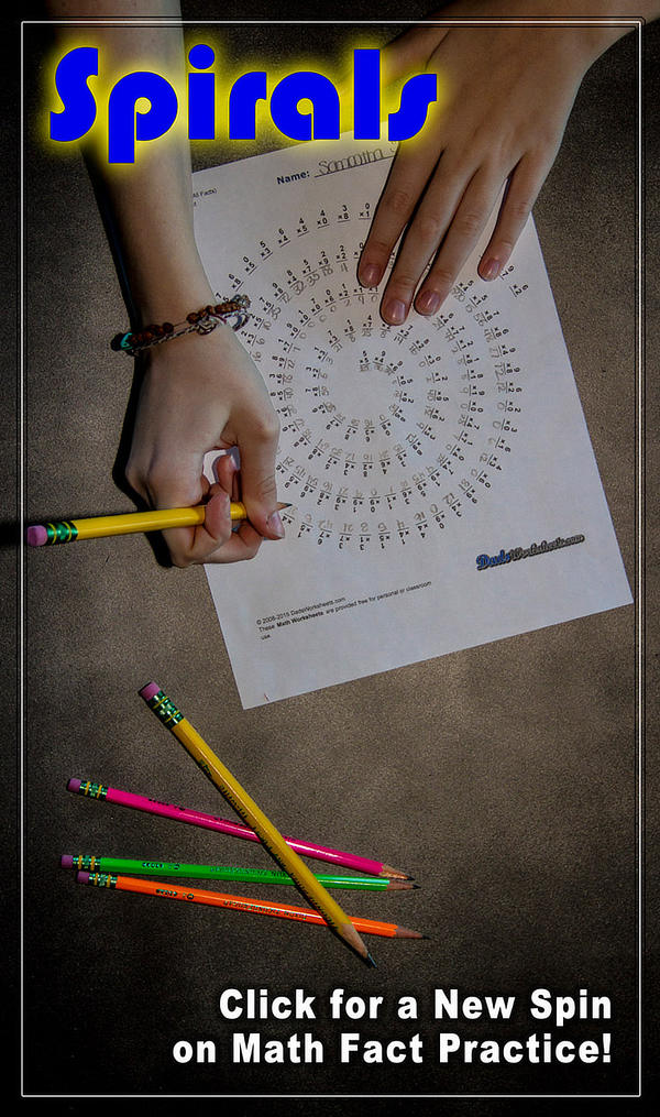 Spiral Multiplication Worksheets