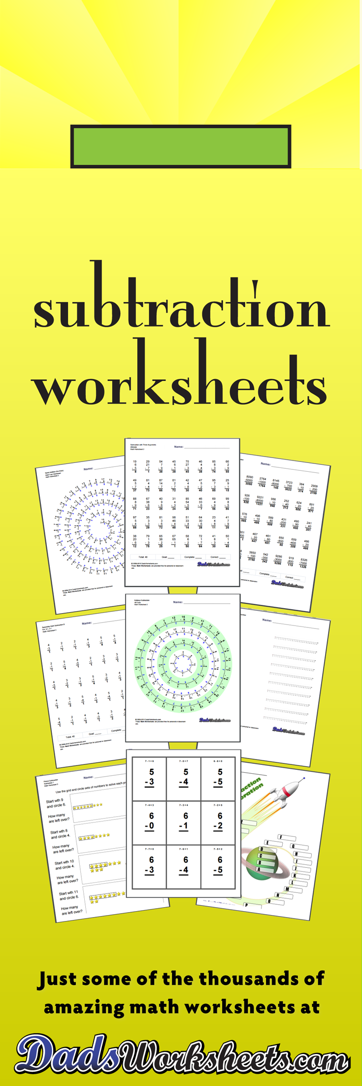 464 Subtraction Worksheets for You to Print Right Now – Subtraction Math Facts Worksheets