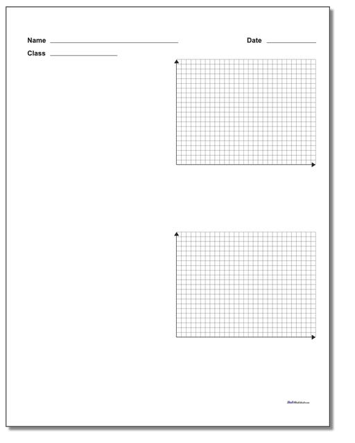 Two Problem Quadrant 1 Worksheet Paper
