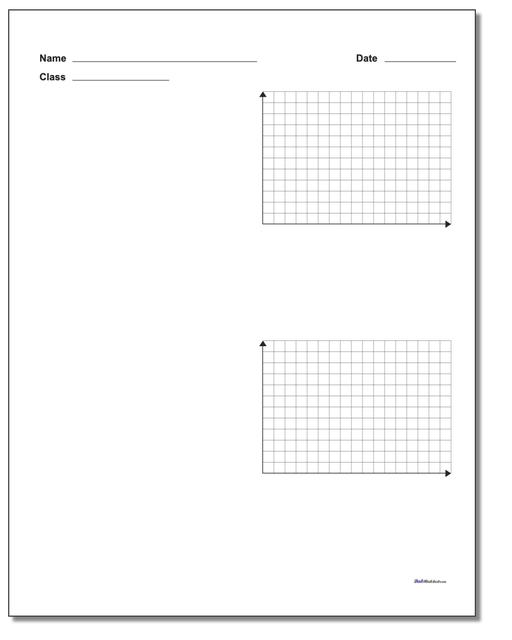 Two Problem Quadrant 1 Worksheet Paper www.dadsworksheets.com/printables/coordinate-plane.html