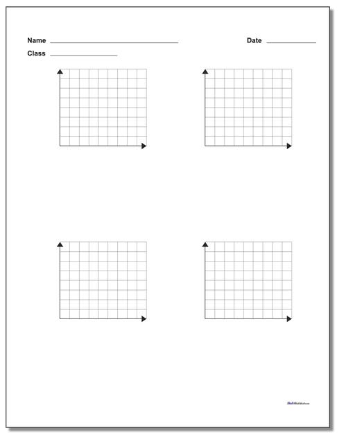 Four Problem Quadrant 1 Worksheet Paper Coordinate Plane
