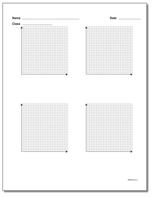 Four Problem Quadrant 1 Worksheet Paper