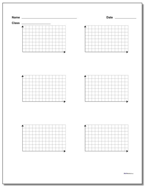 Six Problem Quadrant 1 Worksheet Paper www.dadsworksheets.com/printables/coordinate-plane.html