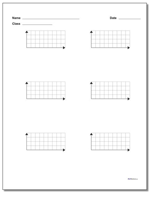 Six Problem Quadrant 1 Worksheet Paper Coordinate Plane