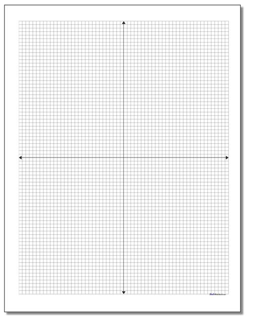 Blank Printable Coordinate Plane Eighth Inch on fraction worksheets