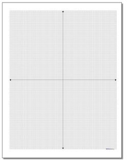 Cartesian Metric Graph Paper