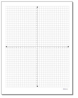Coordinate Plane With Labeled AxisPrintable Graph Paper With Axis