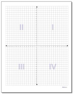 Coordinate Plane Worksheet