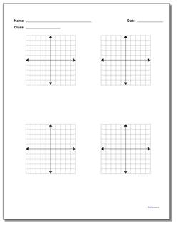 Coordinate Plane Blank Work Pages