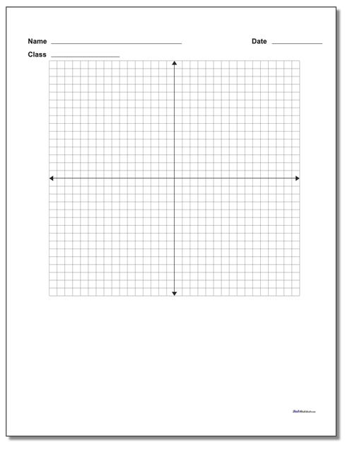 Single Problem Coordinate Plane Worksheet Paper www.dadsworksheets.com/printables/coordinate-plane.html