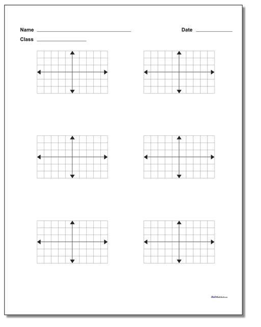 Coordinate Plane Six Problem Worksheets Paper