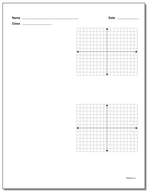 Two Problem Coordinate Plane Worksheet Paper www.dadsworksheets.com/printables/coordinate-plane.html