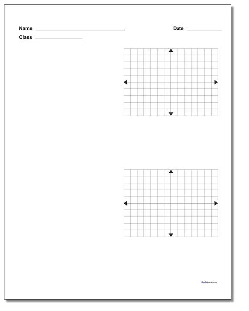 Coordinate Plane Two Problem Worksheet Paper