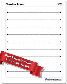 Blank Fraction Worksheet Number Lines #Number #Line #Worksheet